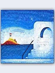 Pintados à mão Paisagem Fantasia Horizontal Panorâmica,Moderno Clássico 1 Painel Tela Pintura a Óleo For Decoração para casa