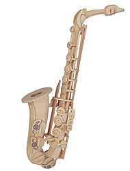 cheap -Jigsaw Puzzles Wooden Puzzles Building Blocks DIY Toys  Saxophone Puzzle 1 Wood Ivory Model & Building Toy