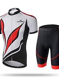 XINTOWN Maillot et Cuissard de Cyclisme Homme Manches Courtes Vélo Maillot Cuissard  / Short Ensemble de Vêtements Séchage rapide Zip