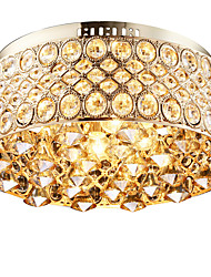 4 Lights Modern Diamond Gift Crystal Flush Mount Ceiling Light