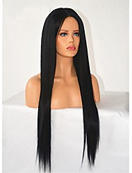 cheap -10 26 inch human virgin hair lace wig lace front natural straight lace wig glueless with baby hair