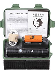U'King LED Flashlights/Torch Flashlight Kits LED 2000 Lumens 3 Mode Cree XM-L T6 Yes Adjustable Focus Rechargeable for