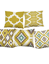 "Set of 5 Nordic Style Geometry Pattern Printed ThrowCreative Decoration for Sofa Car Pillow Cover(18""*18"")"