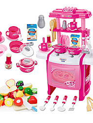 Pretend Play Toy Kitchen Sets Toy Dishes & Tea Sets Kids' Cooking Appliances Toys Toys LED Lighting Sound Kids Girls' 22 Pieces
