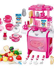 Jeu de Rôle Sets Jouet Cuisine Toy Vaisselle et ensembles de thé Cooking Appliances Kids Jouets Jouets Eclairage LED Son Fille 22 Pièces