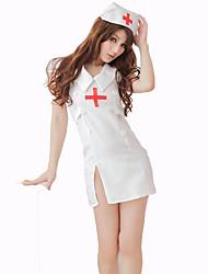 abordables -Enfermera Disfrace de Cosplay Mujer Carnaval Festival / Celebración Disfraces de Halloween Blanco Un Color