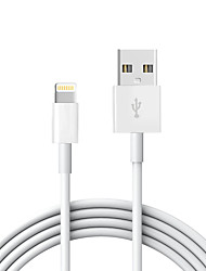 billige -USB 2.0 / Belysning Kabel / Opladerkabel / Opladerledning Normal Kabel iPad / Apple / iPhone for 200 cm Til TPE