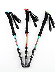 3 Walking Poles Trekking Poles Multifunction Walking Poles 125cm (49 Inches)Damping Fastness Durable Adjustable Length Antishock System