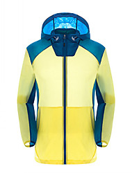 Women's Unisex Hiking Softshell Jacket Quick Dry Windproof Ultraviolet Resistant Breathable Comfortable Lightweight Softshell Jacket Top