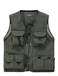 Men's Unisex Sleeveless Hunting Gilet Waterproof Thermal / Warm Quick Dry Ultraviolet Resistant Rain-Proof Front Zipper Anti-Insect