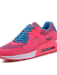 Women's Sneakers Spring Fall  Comfort PU Outdoor Athletic Casual Flat Heel Lace-up Black Purple Light Grey Rose Pink Running