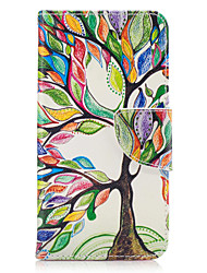 For Samsung Galaxy J3(2016) J5(2016) J3 Prime Case Cover Tree Pattern PU Material Painted Mobile Phone Case