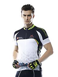 Mysenlan Cyklodres Pánské Krátké rukávy Jezdit na kole Dres Prodyšné Polyester Módní Léto černá/bílá modrá/bílá