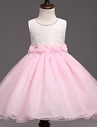 Princess Knee Length Flower Girl Dress - Polyster Sleeveless Jewel Neck by Bflower