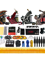 Kit de tatouage complet 4 machine x tatouage en alliage pour la doublure et l'ombrage 4 Machines de tatouage LCD alimentationEncres