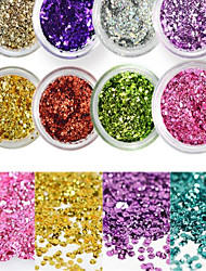 cheap -1 Bottle Sweet Style Colorful Nail Art Glitter Shiny Clear Water Droplet Paillette Decoration Nail DIY Decoration Nail Beauty Design Optional D01-11