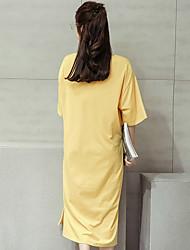 2017 été nouvelle grande taille version coréenne de la longue section de t-shirt à manches courtes lâche casual robe courte à manches jupe