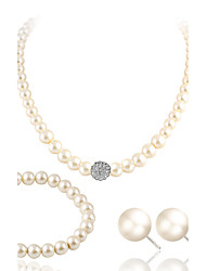 cheap -Jewelry Set - Pearl, Imitation Pearl, Rhinestone Luxury Include White For Wedding / Party / Casual / Imitation Diamond