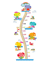 Wall Stickers Wall Decals Style Cute Elephant Measure Your Height PVC Height Stickers