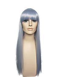 Ženy Dlouhý Modrá Rovné Rovné, bláznivé S ofinou Umělé vlasy Bez krytky Přírodní paruka paruky
