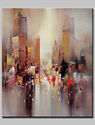 cheap -Hand Painted Modern Abstract City Oil Painting On Canvas Wall Art Picture For Home Decoration Ready To Hang