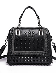 cheap -Women Bags Sheepskin Tote Beading for Casual All Seasons Black