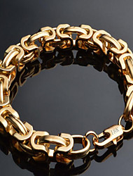 cheap -Men's Chain Bracelet Fashion Costume Jewelry Gold Plated 18K gold Geometric Jewelry For Special Occasion Birthday Gift Christmas Gifts