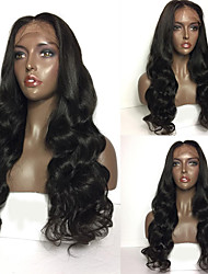 cheap -8A Glueless Lace Front Human Hair Wigs Brazilian Body Wave Virgin Human Hair Wigs With Baby Hair For Women