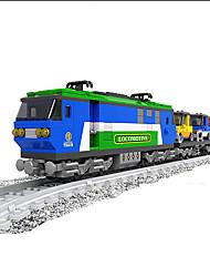 Недорогие -AUSINI Конструкторы 573 pcs Шлейф Cool Оригинальные Электрический Поезд Поезда и наборы железной дороги Мальчики Игрушки Подарок