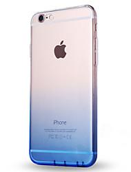 Per iPhone X iPhone 8 Custodie cover Ultra sottile Traslucido Custodia posteriore Custodia Colore graduale e sfumato Morbido TPU per Apple