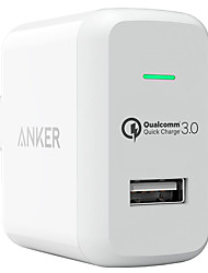 Anker® Quick Charge 3.0 18W USB Wall Charger US Plug (Quick Charge 2.0 Compatible) PowerPort 1 for LG HTC Nexus iPhone iPad