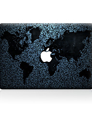 1 pezzo Anti-graffi Carta geografica Di plastica trasparente Decalcomanie A fantasia PerMacBook Pro 15'' with Retina MacBook Pro 15 ''