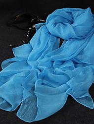 economico -Donna Romantico Da serata Casual Raso Sciarpa,Tinta unita Rettangolare,Estate Autunno Per tutte le stagioniNero Bianco Blu Rosa Giallo