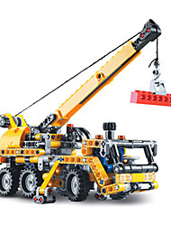cheap -Building Blocks For Gift  Building Blocks Model & Building Toy Truck Excavating Machinery Plastic 5 to 7 Years 8 to 13 Years 14 Years & Up