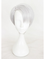 cheap -Synthetic Wig Straight kinky Straight With Bangs Gray Women's Capless Carnival Wig Halloween Wig Cosplay Wig Short Synthetic Hair
