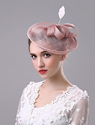 cheap -Flax Hats 1 Wedding Special Occasion Casual Outdoor Headpiece