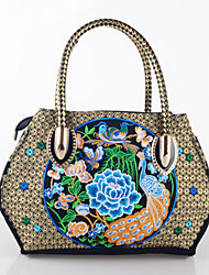 Women Bags All Seasons Linen Tote Sequin for Casual Outdoor Office & Career Blue Red Purple