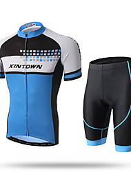 cheap -XINTOWN Cycling Jersey with Shorts Men's Short Sleeves Bike Jersey Shorts Clothing Suits Quick Dry Front Zipper Breathable Soft