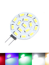 cheap -1.5W G4 LED Spotlight MR11 15 SMD 5630 100-150 lm Warm White Natural White Red Blue Green 3000-3500 6000-6500 K Dimmable DC 12 AC 12 AC