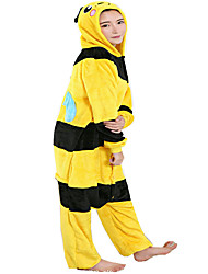 cheap -Kigurumi Pajamas Bee Onesie Pajamas Costume Flannel Toison Yellow Cosplay For Adults' Animal Sleepwear Cartoon Halloween Festival /
