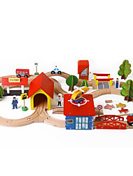 Недорогие -Игрушки Поезд Игрушки Оригинальные Дерево Мультяшная тематика 1 Куски Мальчики Девочки День детей Подарок