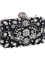 cheap -Women Bags Polyester Clutch Imitation Pearl for Event/Party Office & Career All Seasons Black Apricot
