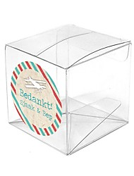 6pcs - 2inch Clear Cube PVC Box Beter Gifts® DIY Packaging Material