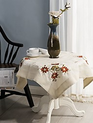 cheap -For Sale Square Embroidered Table Cloth 100% Cotton Wedding Party Tablecloth Decor 85*85cm (34*34 inches)