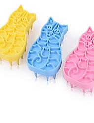 economico -Gatto Cane Pulizia Pennelli Set da bagno Ompermeabile Massaggio Arcobaleno