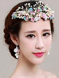 Ženy imitace drahokamu Slitina Imitace perly Přílba-Svatba Zvláštní příležitost Květiny Jeden díl