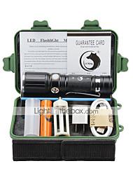 economico -U'King Torce LED LED 2000 lm 3 Modo Cree XM-L T6 con batteria e adattatore Zoom disponibile Messa a fuoco regolabile Gancio