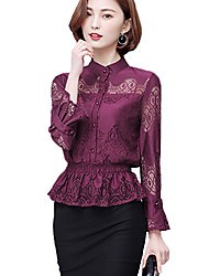 cheap -Women's Lace Daily Casual All Seasons Shirt