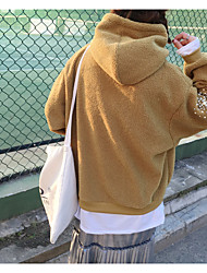 Korean version of the new lambs wool hooded drawstring sweater was thin beaded stitching head fake two-piece women