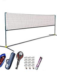 economico -Rete portatile da badminton Rete da badminton Racchette da badminton Volani di piume Non deformabile Elevata elasticità Duraturo per